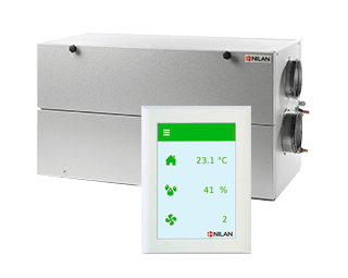 Nilan ventilation HMI touch panel